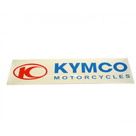 Sticker Kymco 111x27mm wit