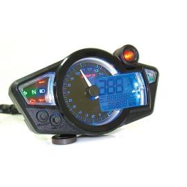 Multifunctionele-Snelheidsmeter Koso RX1N GP Style zwart-blau