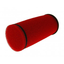 Luchtfilter Double Layer Racing lang 28-35mm rood