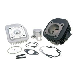 Cilinderkit Polini Gietijzer Sport 70cc 10mm voor Minarelli horizontaal AC, schuin