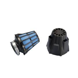 Luchtfilter Polini Blue Air Box 46mm recht zwart-blau