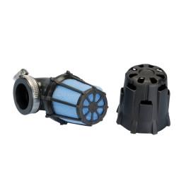 Luchtfilter Polini Blue Air Box klein 32mm 90° zwart-blau
