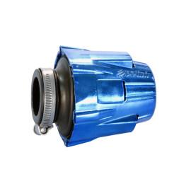 Luchtfilter Polini Blue Air Box 46mm recht blauw-schwarz