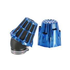 Luchtfilter Polini Blue Air Box 42mm 30° blauw-schwarz