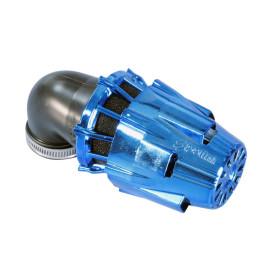 Luchtfilter Polini Blue Air Box 32mm 90° blauw-schwarz