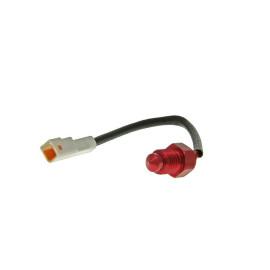 Temperatuursensor Koso 0-250°C - M10xP1,25 - witte Stekker