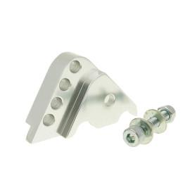 Schokbrekerverlenger CNC 4-Loch zilver voor Minarelli verticaal