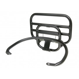 Kofferdrager / Bagagedrager achter, opklapbaar zwart voor Vespa GT, GTS, GTV