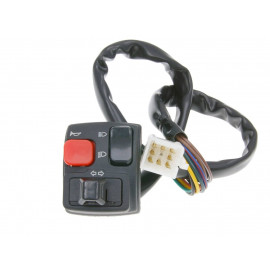 Stuurschakelaar links Knipperlicht, Fernlicht, Abblendlicht, Hupe voor Rieju RRX, MRX, SMX, MRT, RS2