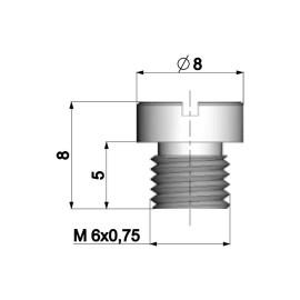 Carburateur Hoofdsproeier Polini 6mm voor Dellorto Carburateur - 100