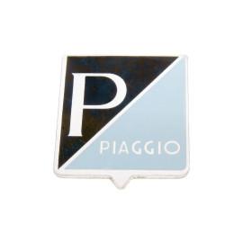 Embleem Piaggio om te plakken 25x31mm Aluminium voor Vespa 50, 50S, 50SS (-1968), 90, 90SS, 125 Primavera, Nuova (1966)