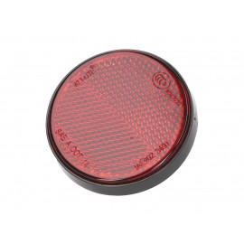 Reflector rond 55mm rood schroefbaar
