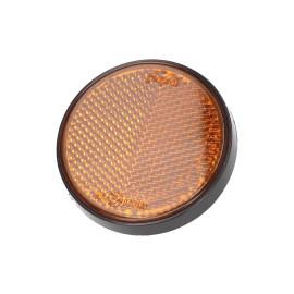 Reflector rond 55mm orange schroefbaar