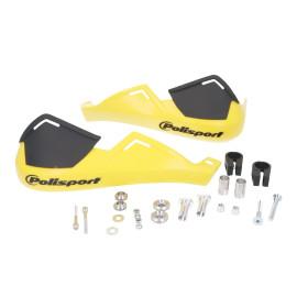 Handbescherming Polisport Evolution Integral geel voor Stuur met 22mm Diameter