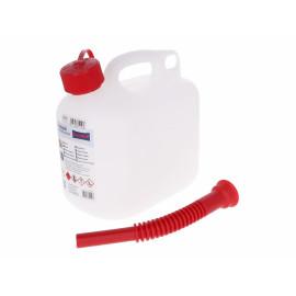 Kraftstoff-Kanister transluzent 5l met flexiblem Auslaufrohr