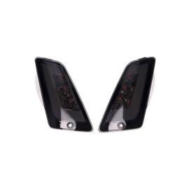Knipperlicht Set voorkant Power1 LED rauchGrijs getint voor Vespa GT, GTL, GTV, GTS 125-300