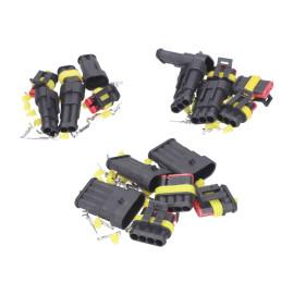 Stekker set Kabelverbinder / Kabelschoen Set waterdicht 3x 2, 3 en 4 Pins