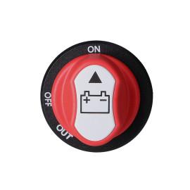 Scooter accu Trennschakelaar d=29mm, 3 Functies van 32V 100A