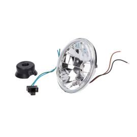 ScheinwerferInsert rond Helder glas 12V H4 / HS1 Halogen met Standlicht voor Simson S50, S51, S70