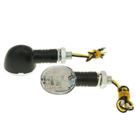 Knipperlicht Set M10 LED Drop zwart