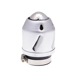 Luchtfilter Grenade zilver recht 42mm Aansluiting