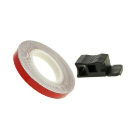 Velgrand Sticker 7mm - rood - 600cm