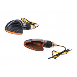 Knipperlicht Set M8 Carbon-Look Edge orange, kort voor Beta RR