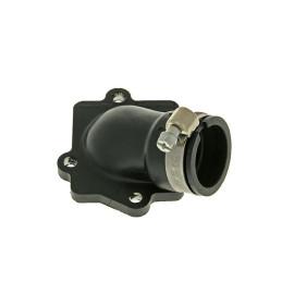 Spruitstuk Malossi NBR 22/28mm schuin voor Minarelli horizontaal, CPI, Keeway, 1E40QMB
