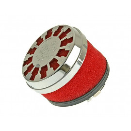 Luchtfilter Malossi Red Filter E13 32 / 38mm 25° rood-Chrom