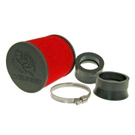 Luchtfilter Malossi Red Filter E16 rond 42 / 50 / 58,5mm recht rood-schwarz
