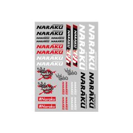 Stickerset  Naraku 29,7x21cm 30-delig transparant
