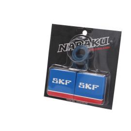 Krukaslager Set Naraku SKF C4 Metaalkäfig voor Derbi EBE, EBS, D50B0