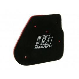 Luchtfilter element Naraku Double Layer voor CPI, Keeway, 1E40QMB 50cc