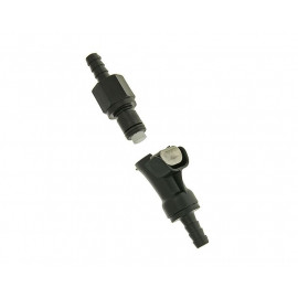 BenzinschlauchKoppeling zwart 6mm
