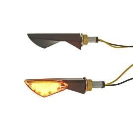 Knipperlicht Set M8 LED zwart New Sphere Helder glas