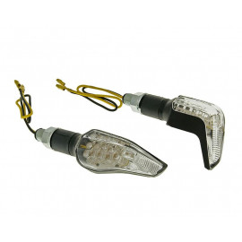 Knipperlicht Set M10 LED zwart Sidewinder Helder glas