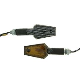 Knipperlicht Set M10 Carbon-Look Beamer getint/smoke, lang