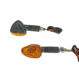 Knipperlicht Set M10 Carbon-Look Doozy orange, lang