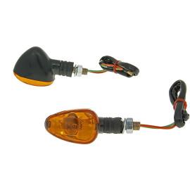 Knipperlicht Set M10 zwart Doozy orange, kort