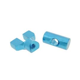 Remkabel Afsteller Set Aluminium blauw - universeel