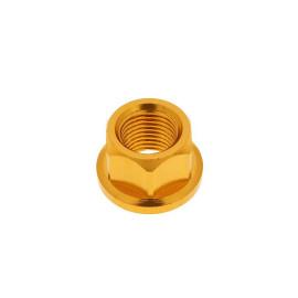 Moer wielas Aluminium gold geanodiseerd - M12x1,75