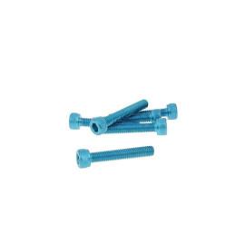 Schroevenset 6 Stuks inbus Alu blauw - M5x30