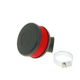 Luchtfilter Flat Foam rood 28-35mm haaks