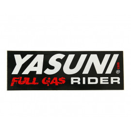Sticker Yasuni Full Gas Rider 110x38mm